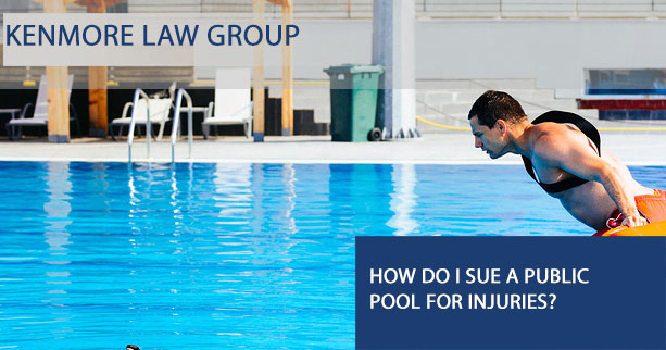 How do I sue a public pool for injuries?